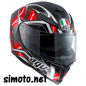 AGV K-5 HURRICANE RED